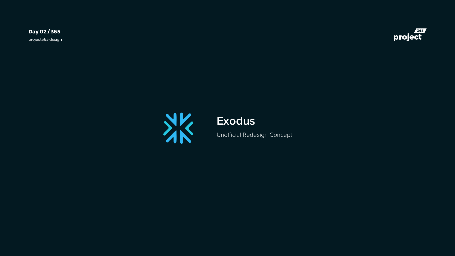 Day 02 – Exodus App Redesign