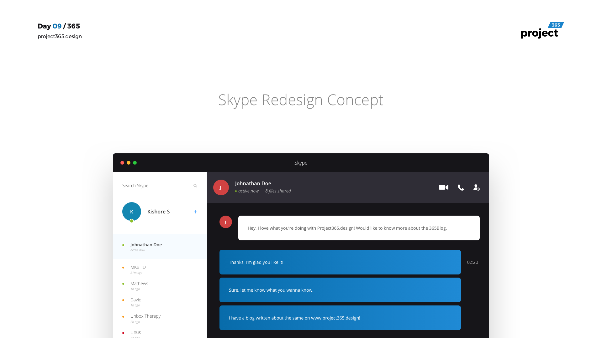 Day 09 – Skype Redesign