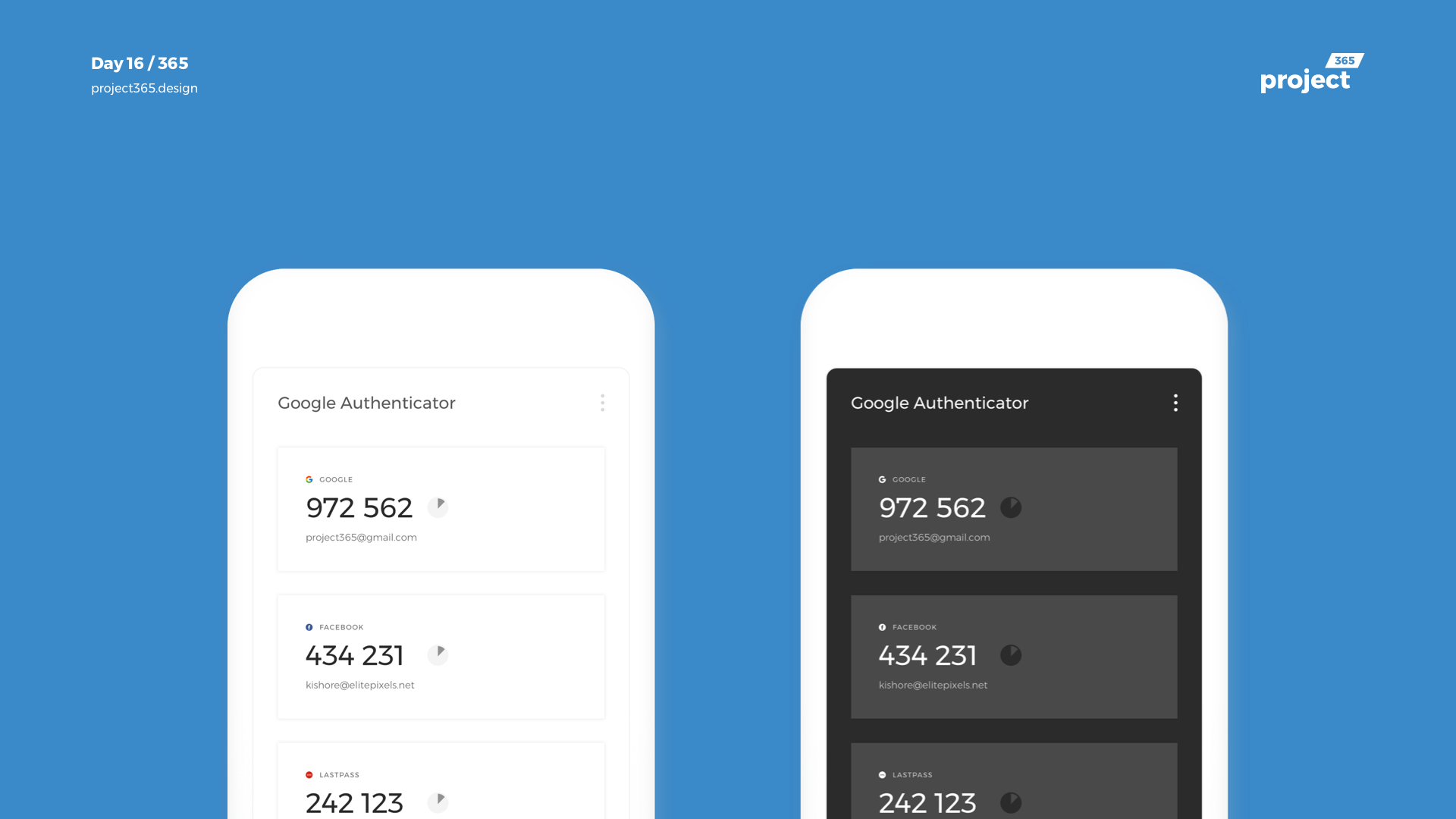 Day 16 – Google Authenticator Redesign