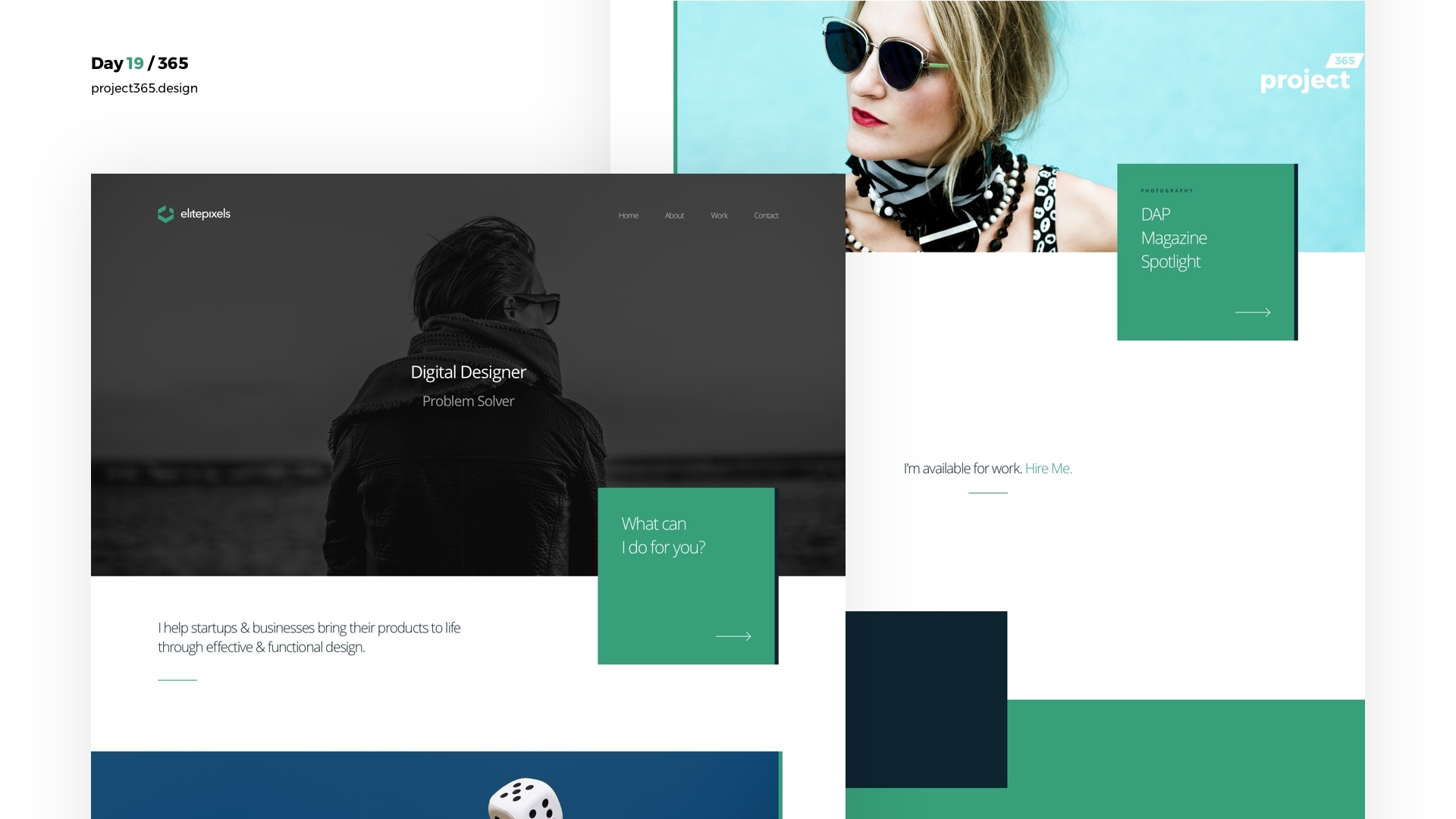 Day 19 – ElitePixels Personal Portfolio Freebie