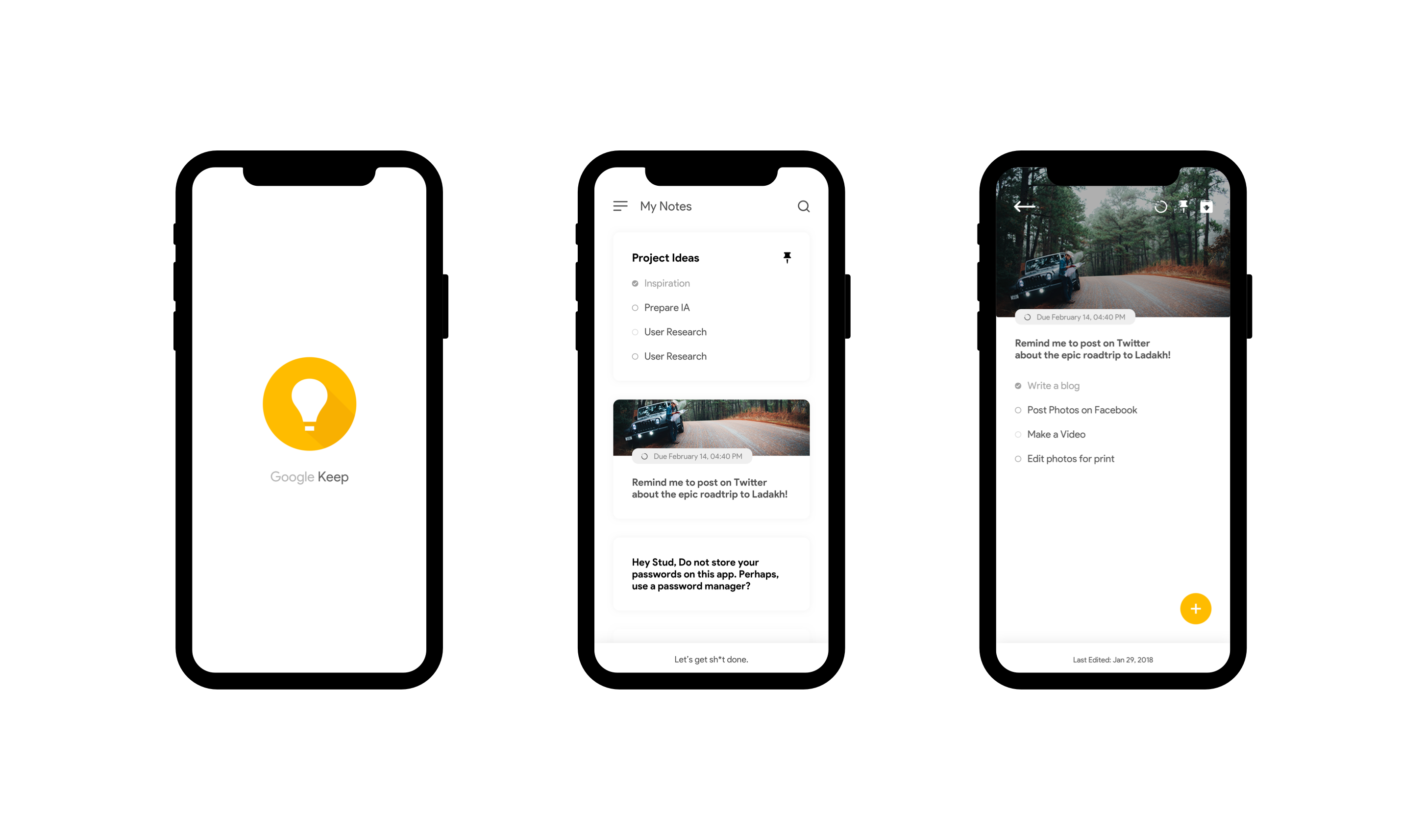 Day 44 - Google Keep Redesign Concept - Project365