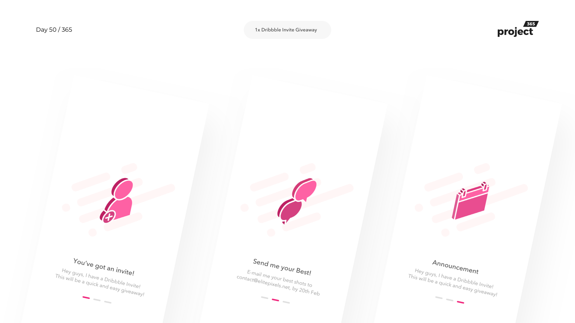 Day 50 – 1x Dribbble Invite Giveaway