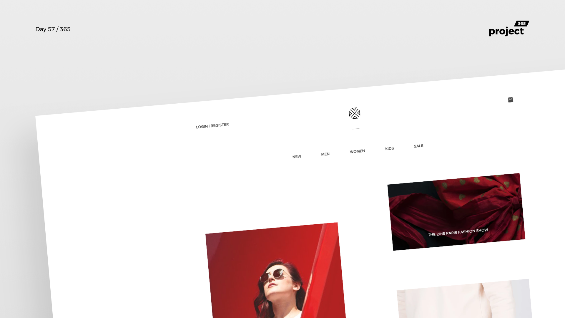 Day 57 – Minimal Fashion Website