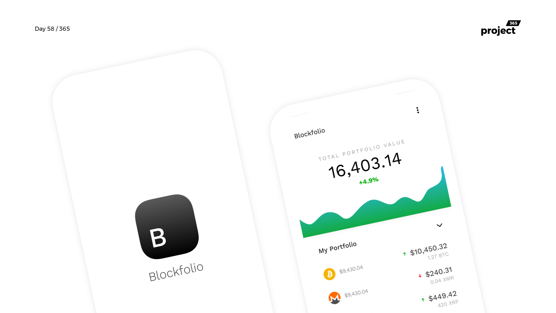 Day 58 – Blockfolio Crypto App – Redesign Concept