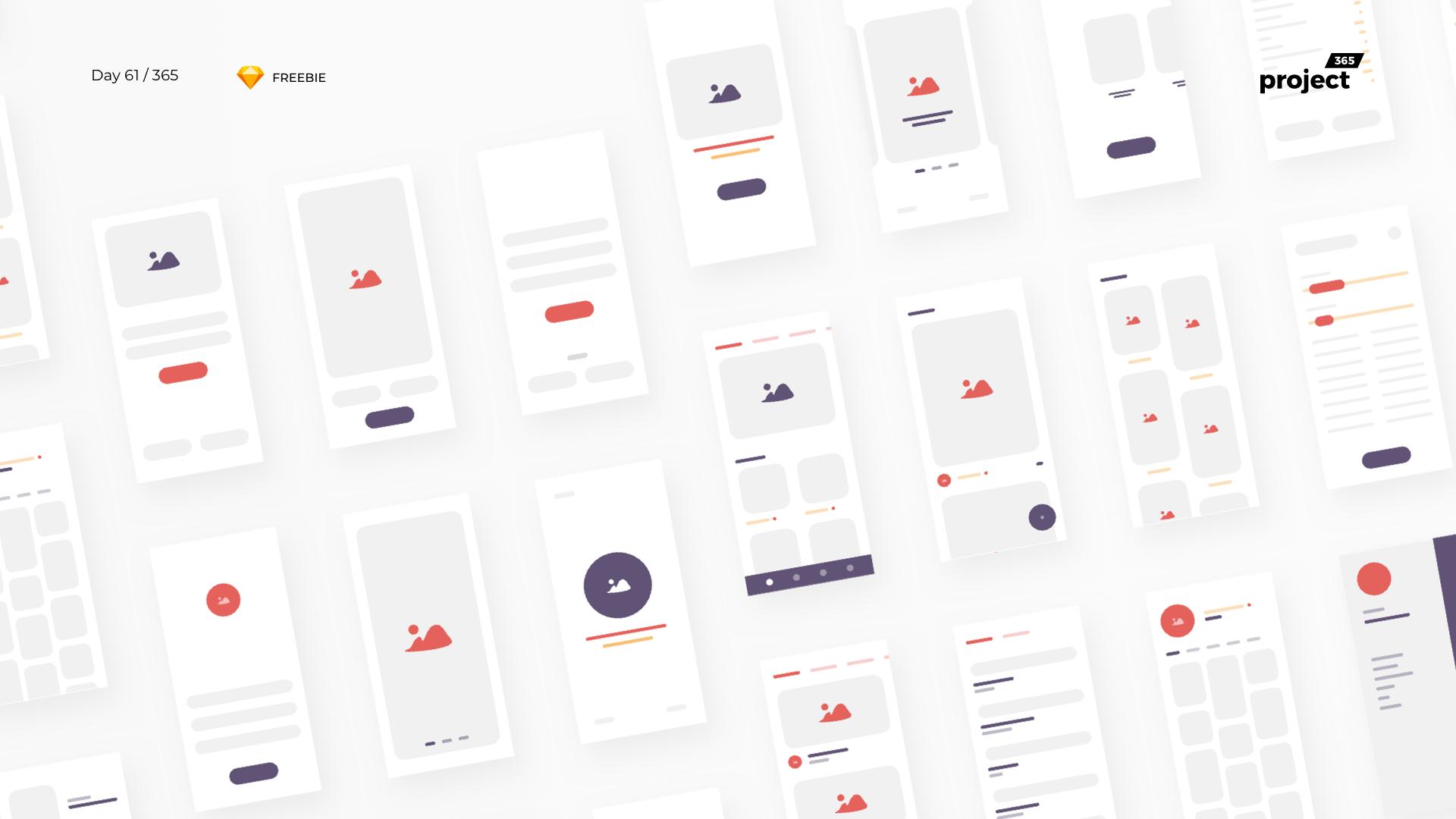 Day 61 – iBlocks – iOS Wireframe Kit – Sketch Freebie