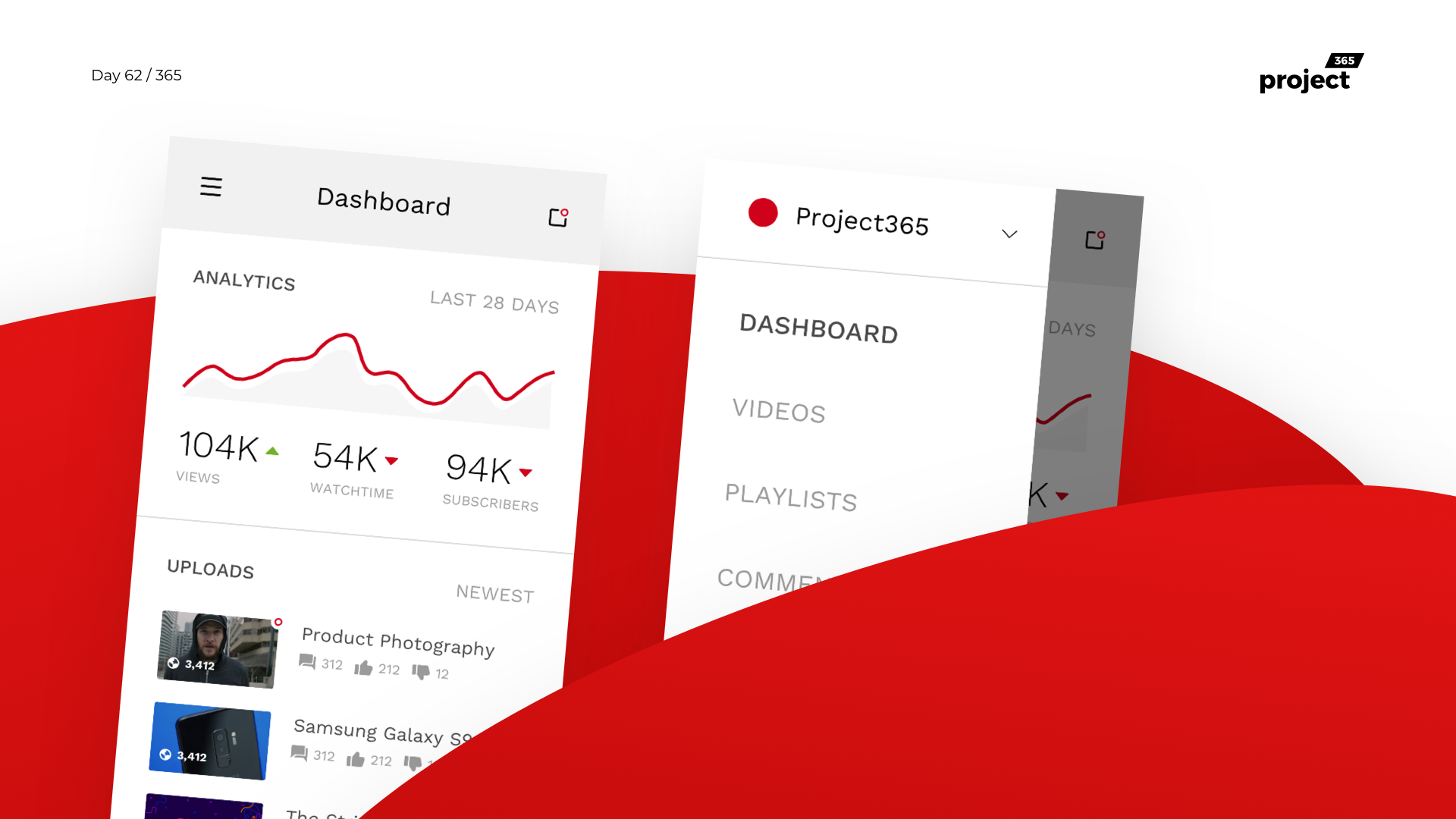 Day 62 – YouTube Creator Studio iOS Dashboard
