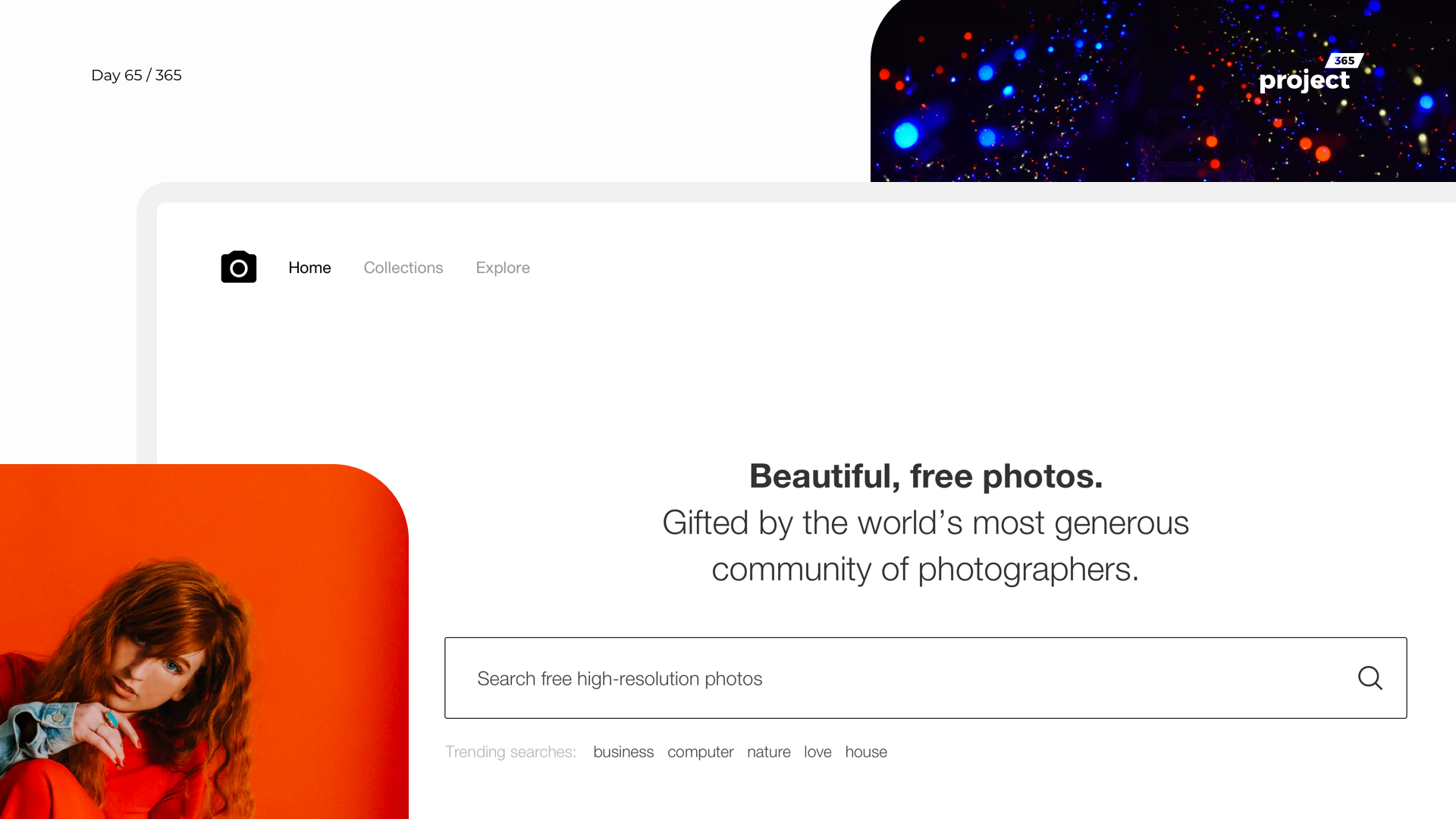 Day 65 – Unsplash.com Web Redesign Concept