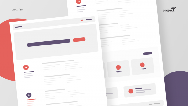 Day 73 – Help Center Homepage – Colorful Wireframe