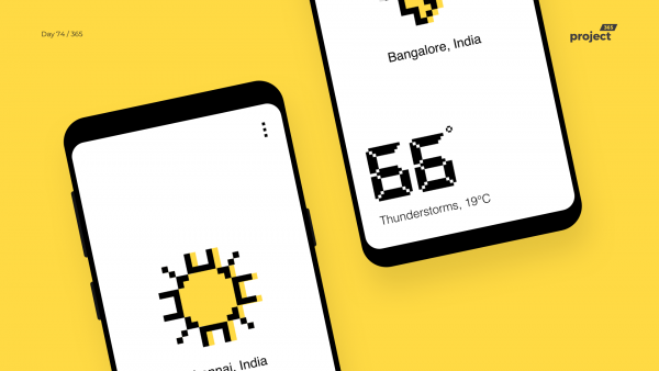 Day 74 – Pixel Weather App