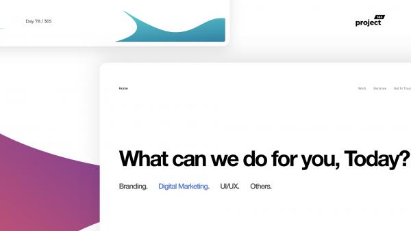 Day 78 – Digital Agency – Minimal Concept