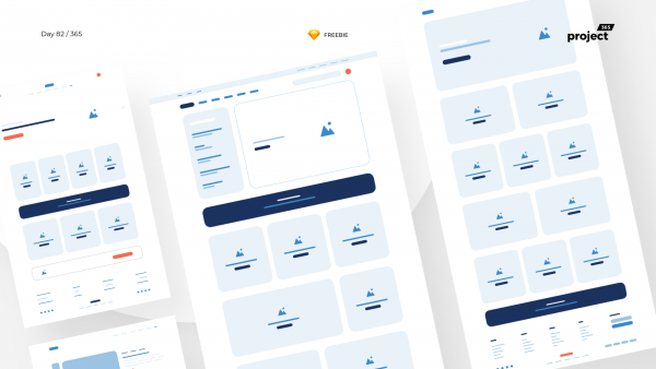 Day 82 – iComm eCommerce Wireframe Kit Freebie
