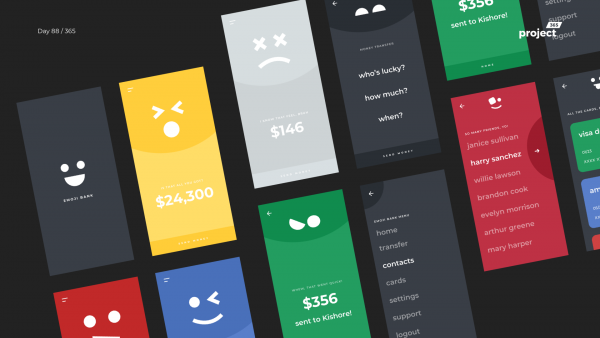 Day 88 – Emoji Banking – Fun Mobile App Concept
