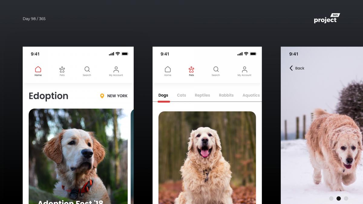 Day 98 – Edoption – Pet Adoption App Concept