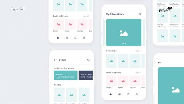 Day 101 – College Library App Concept