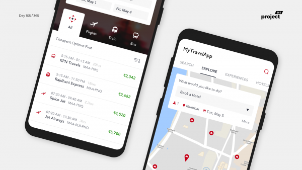 Day 105: AIO Travel Booking App Concept