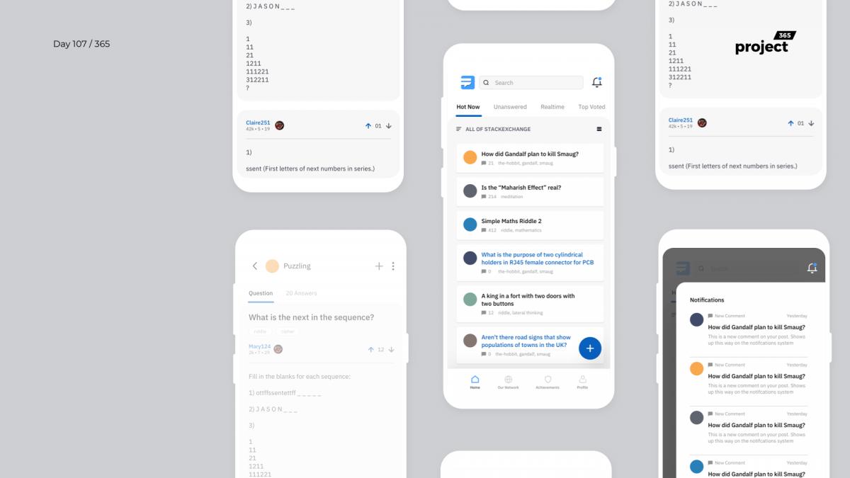 Day 107 – StackExchange App Redesign Concept