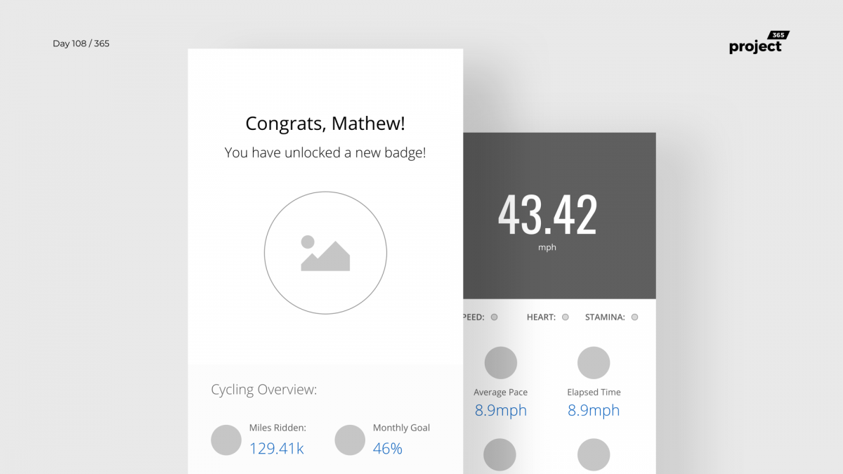 Day 108 – Bike Tracking App Wireframe
