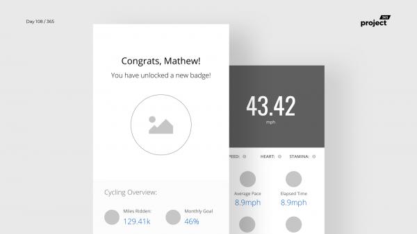 Day 108 – Bike Tracking App Wireframe