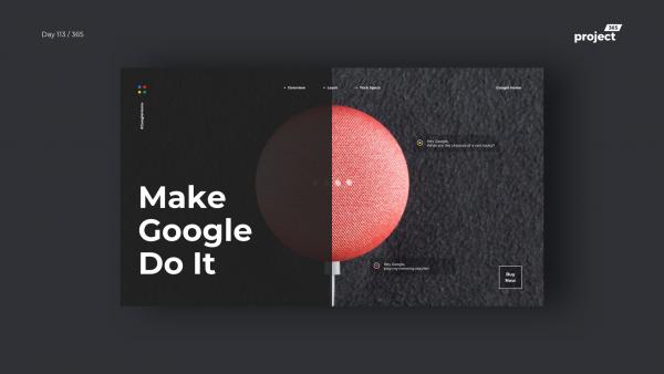 Day 113 – MakeGoogleDoIt – Minimal Homepage Concept