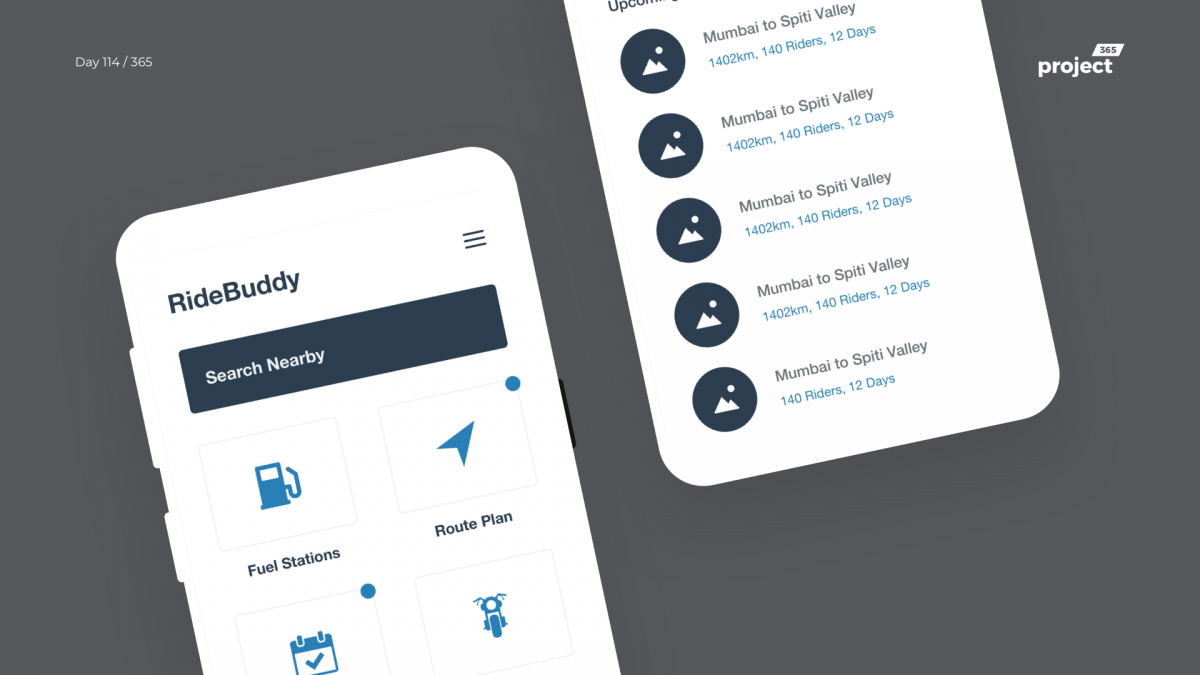 Day 115 – RideBuddy – The Motorcyclists Roadtrips App