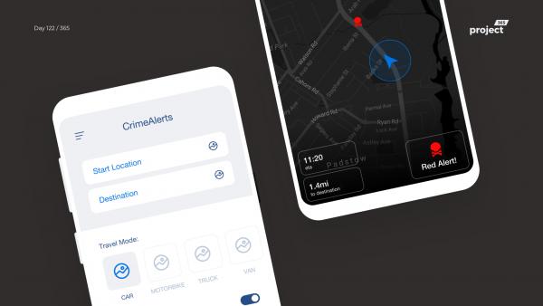 Day 122 – CrimeAlerts – Navigation Safety App