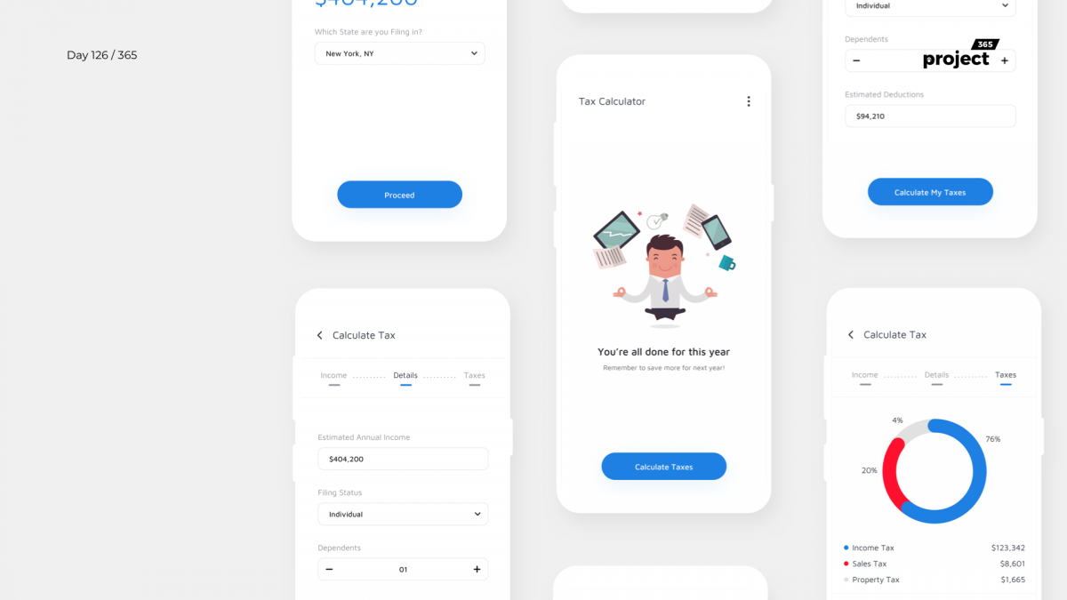 Day 126 – Federal Tax Calculator App Concept