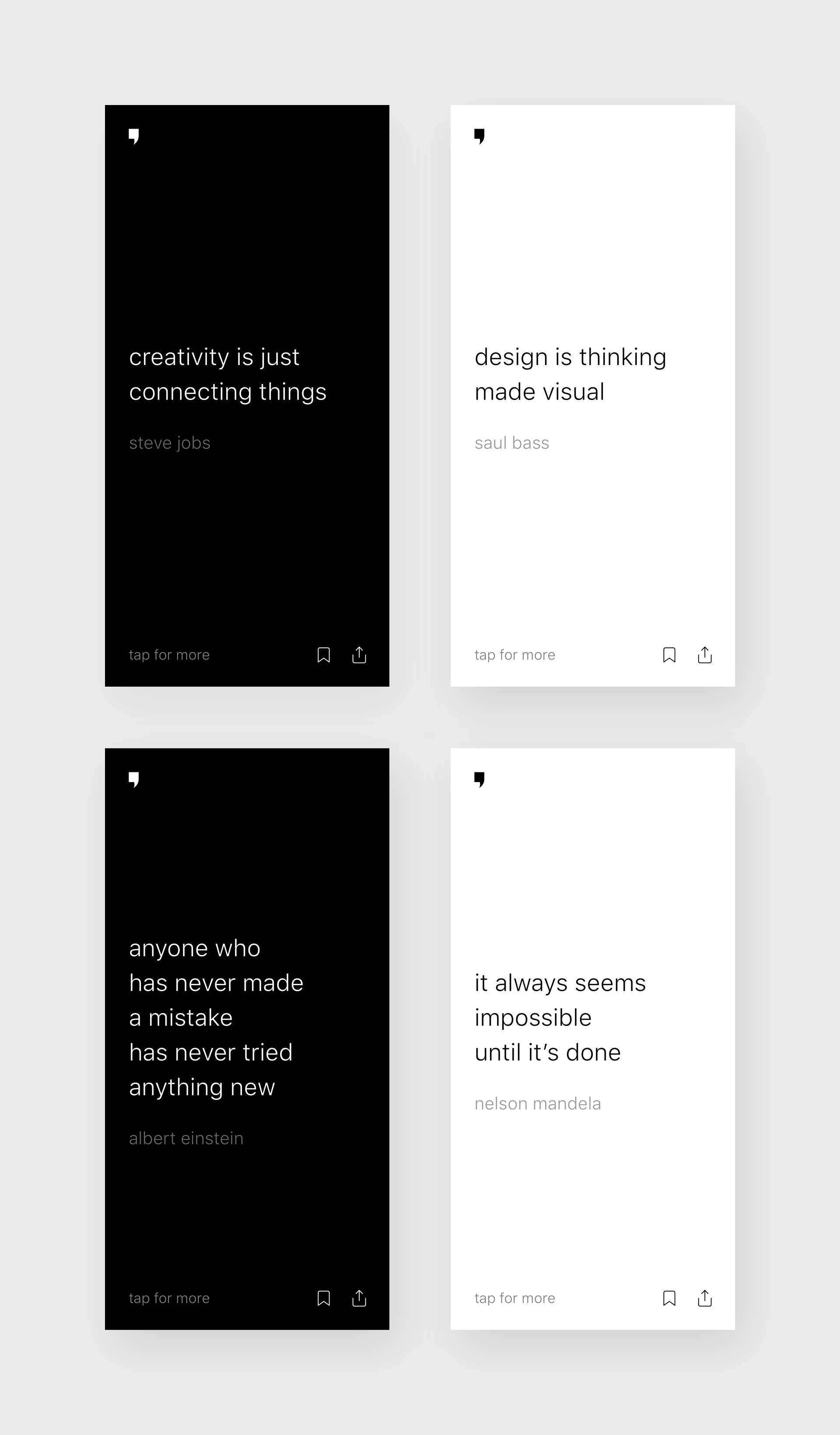 day minimal quotes app concept project