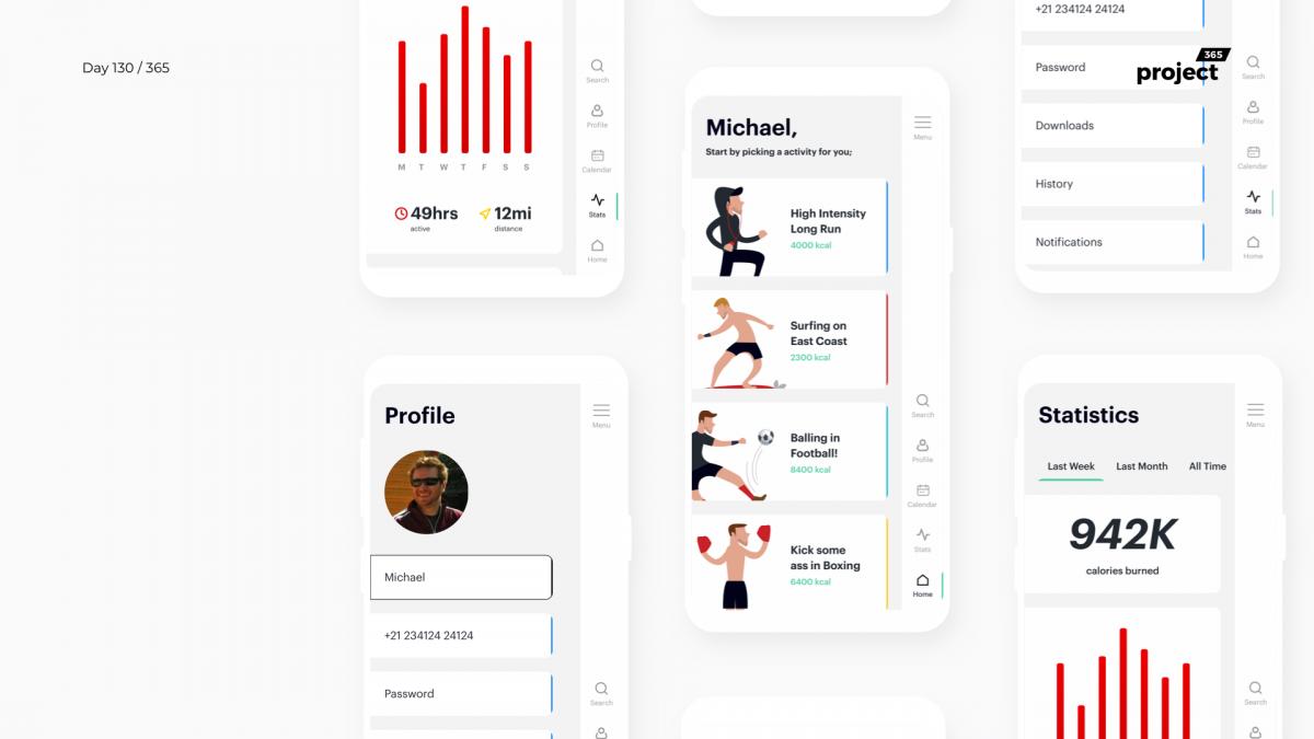Day 130 – Healthy Activities Tracker App