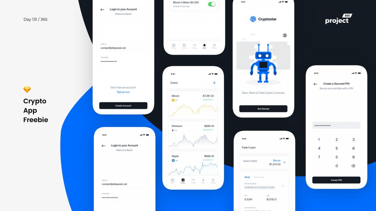 Day 131 – Crypto App – iOS UI Kit Freebie