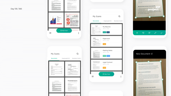 Day 135 – CamScanner App Redesign Concept