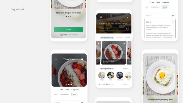 Day 140 – Recipe App Concept