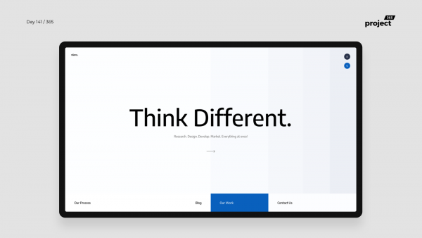 Day 141 – Minimal Agency Website Concept
