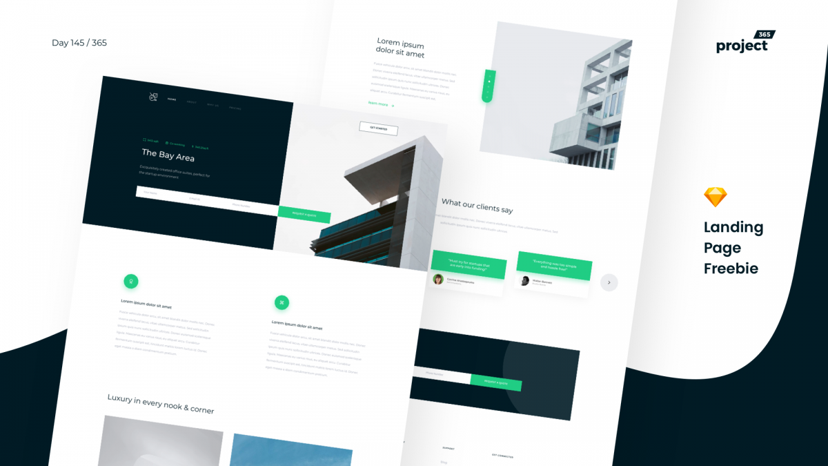 Day 145 – Real Estate Landing Page Freebie
