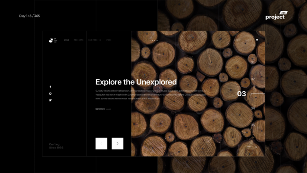 Day 148 – Wood Store – Minimal Website Exploration