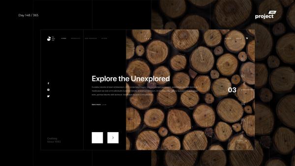 Day 148 – Wood Store – Minimal Website Exploration