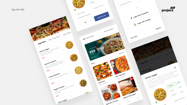 Day 149 – Dominos Mobile App Redesign Concept