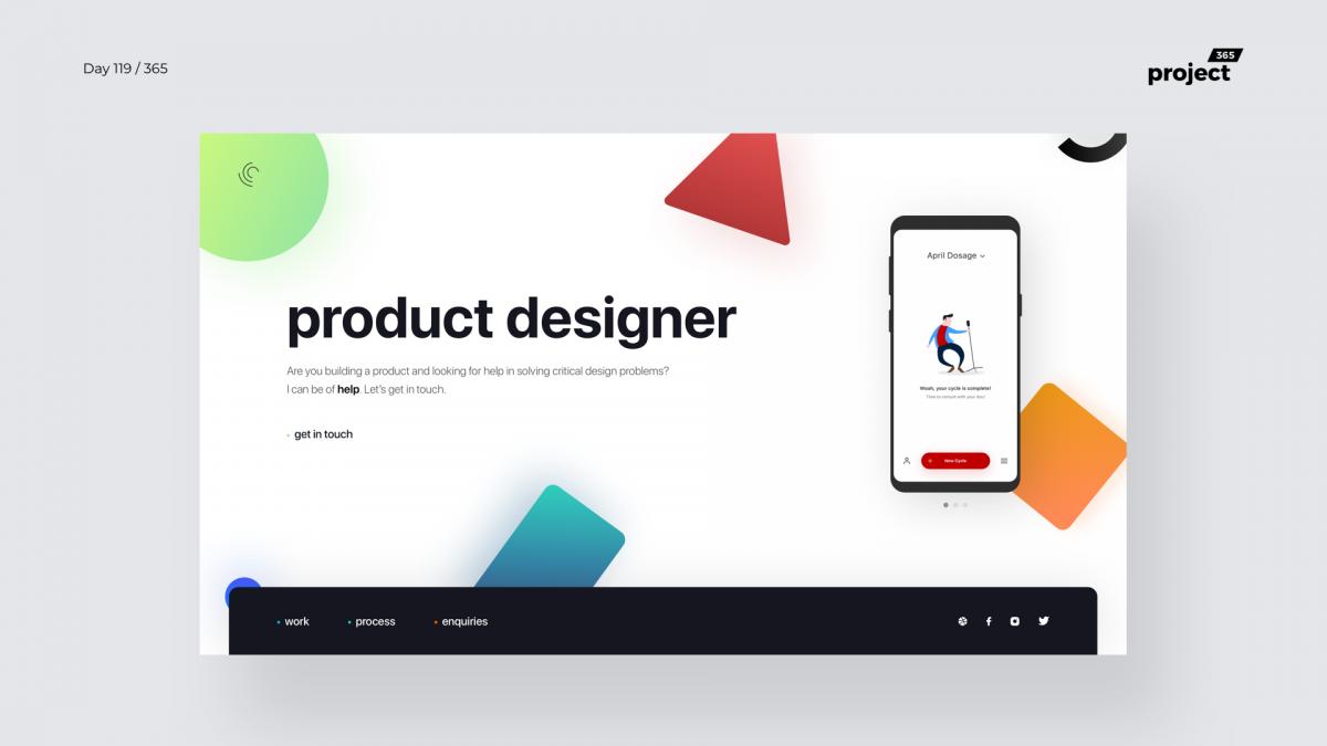 Day 120 – Product Designer Minimal Portfolio