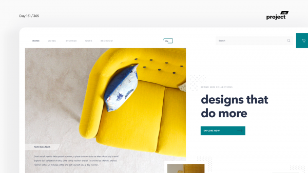 Day 162 – Minimal Furniture Website Exploration