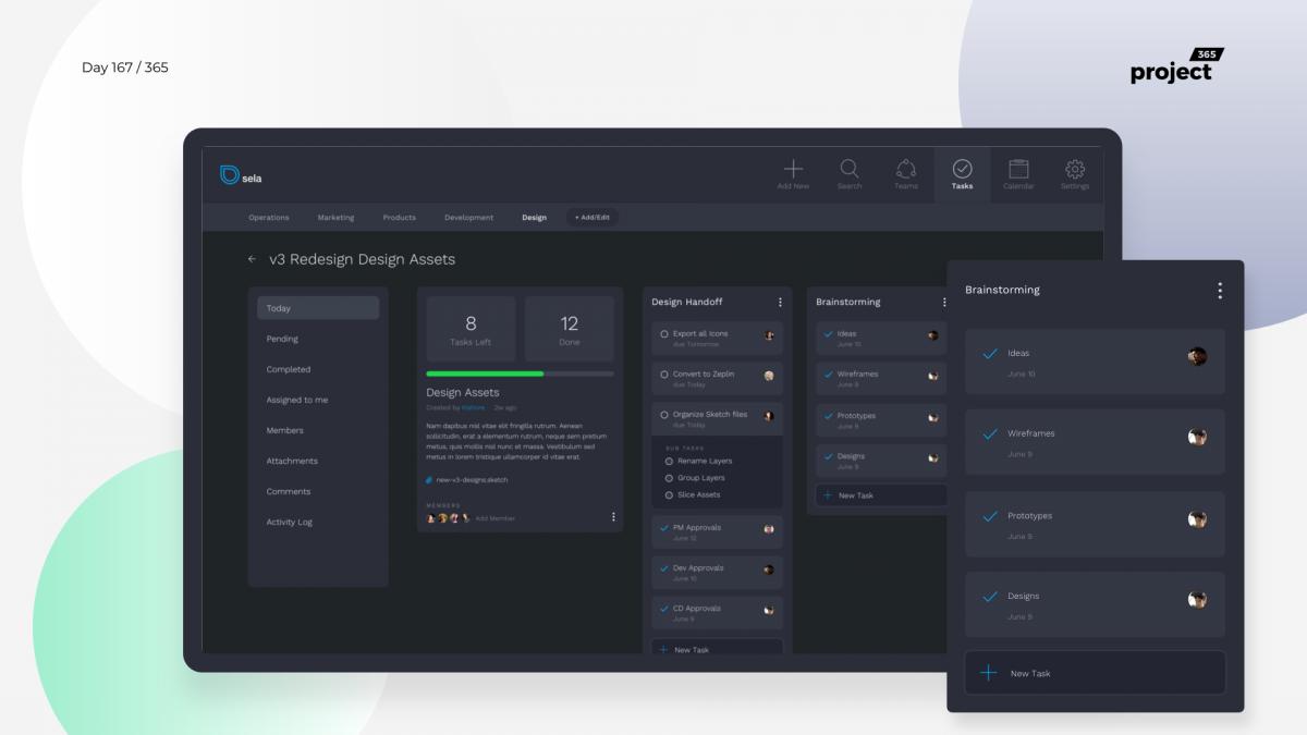 Day 167 – Project Management App – Tasks