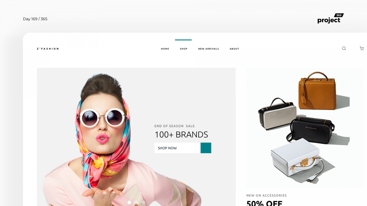 Day 169 – Fashion Website Landing Page