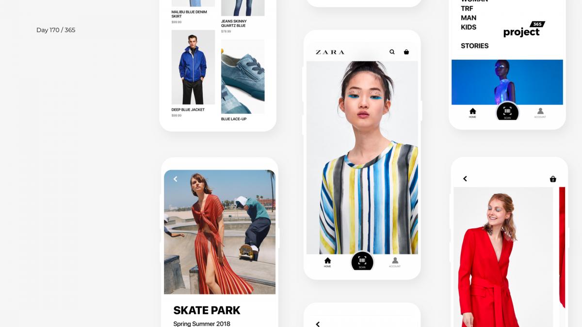 Day 170 – ZARA Mobile App Redesign Concept