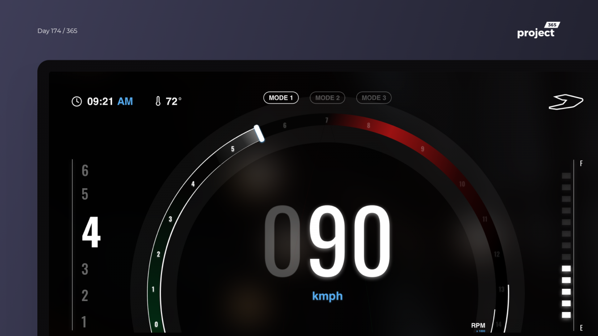 Day 174 – Superbike Riding Dashboard Concept