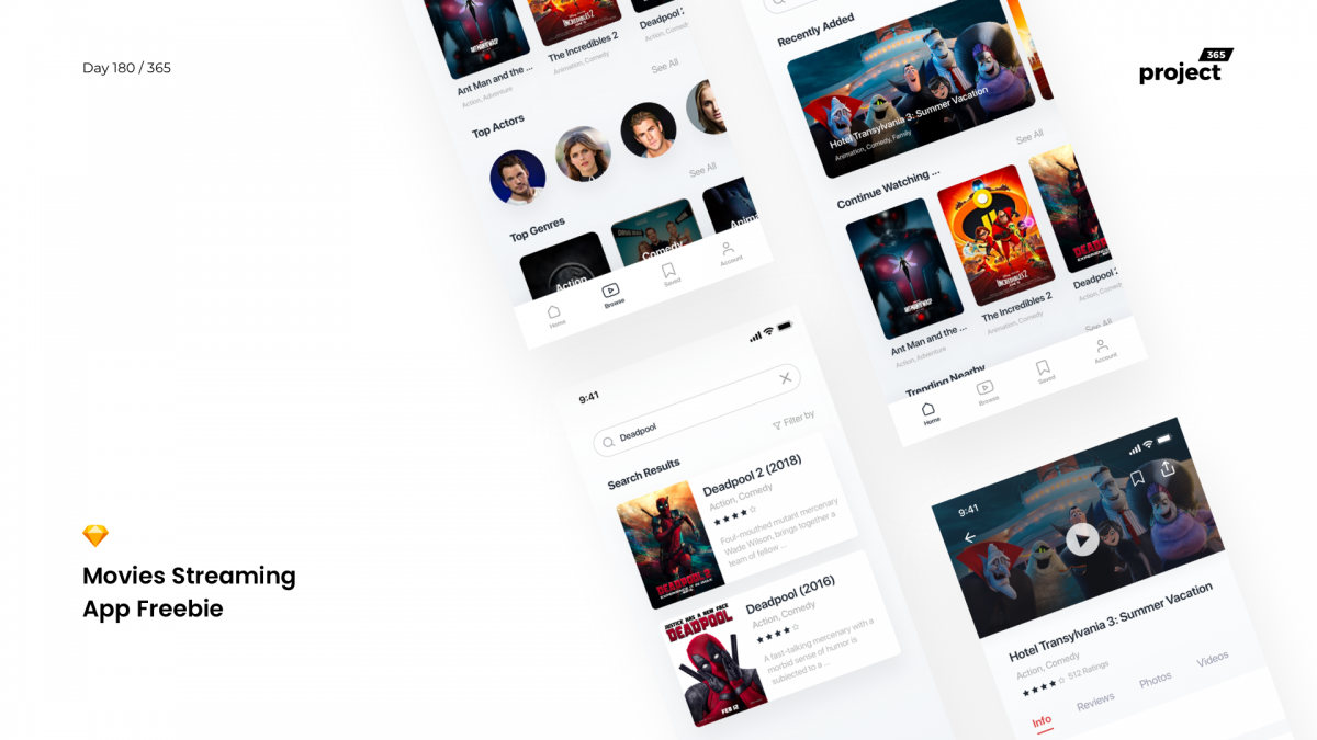 Day 180 – Movies Streaming App Freebie