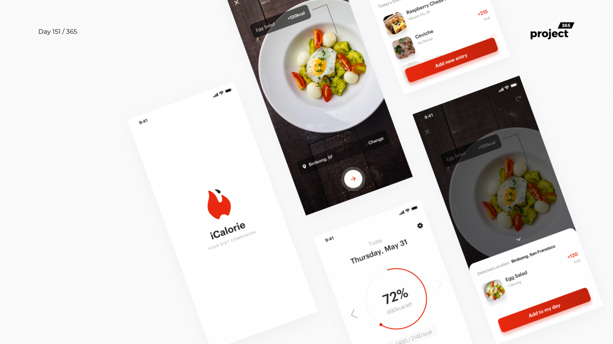 Day 151 – iCalorie AR Dieting App Concept