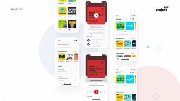Day 182 – Podcast App Concept