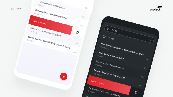 Day 184 – Yahoo Mail Mobile App Redesign Concept