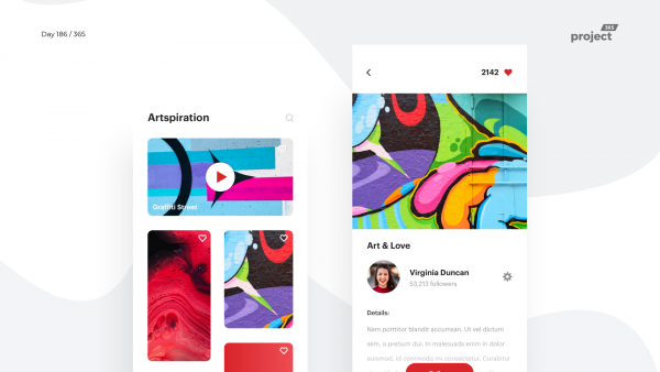 Day 186 – Artspiration Art Curation App