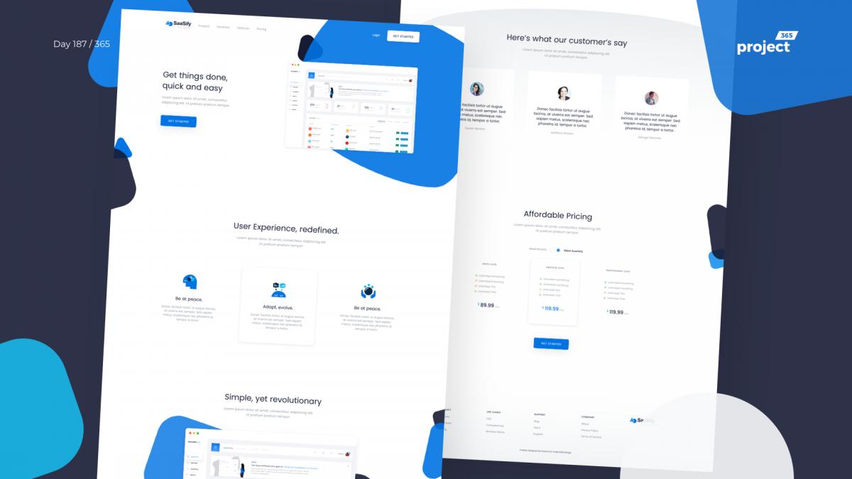Day 187 – SaaSify Landing Page Freebie