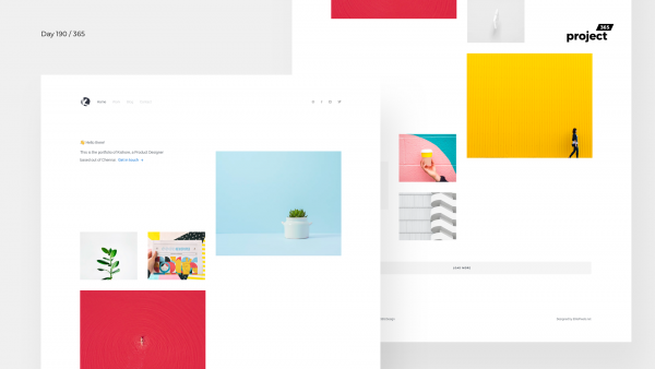 Day 190 – Minimal Designer Portfolio Website