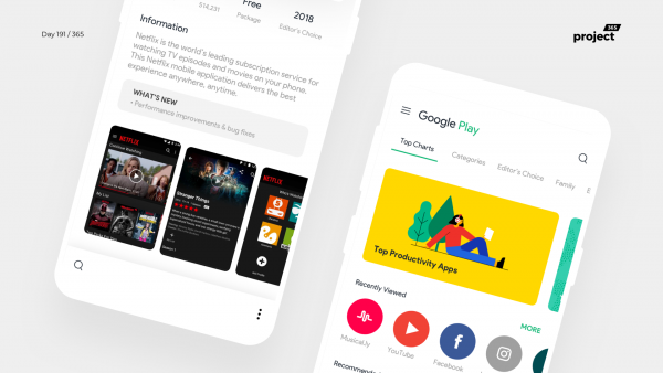 Day 191 – Google Play Store Redesign – Material 2.0